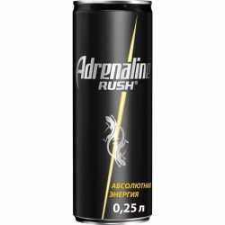 Энергетический напиток Adrenaline Rush, 0.25 л