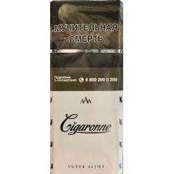 Сигареты Cigaronne Super Slims White