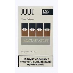 Картриджи для JUUL Golden Tobacco (Джул Табак) 4шт 15мг