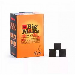 Уголь для кальяна кокосовый Big Maks 72 шт 25 мм