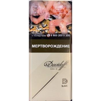Сигареты Давыдов Слим Голд (Davidoff Slims Gold)