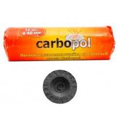 Уголь для кальяна CARBOPOL (Карбопол) 40 мм